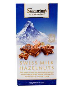 Шоколад молочно-белый с орехами, SHMERLING